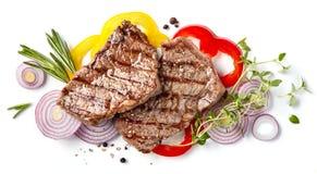 nötkött grillad steak royaltyfri foto