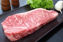 nötkött kallade kokkonst japansk kobe shabustil royaltyfri fotografi