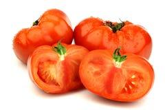 nötkött klippta nya tomater en Royaltyfri Bild