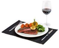 nötkött lagad mat steak Fotografering för Bildbyråer