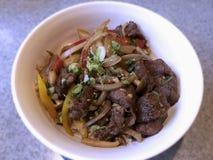 Nötkött med ris - japansk mat Royaltyfri Bild