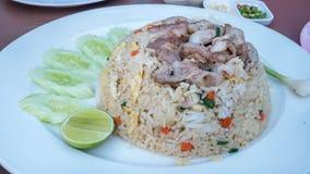 nötkött stekt rice royaltyfri fotografi