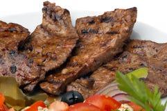 nötkött stekte lever arkivfoton