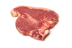 Nötköttbiff på vit Arkivfoton