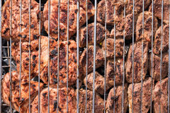 Nötköttbiffar på gallret Royaltyfri Bild