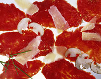 nötköttcarpaccio Fotografering för Bildbyråer