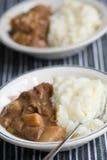 nötköttcasserolen mosar Fotografering för Bildbyråer