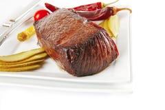nötkötten stor bit grillade meat Arkivbilder