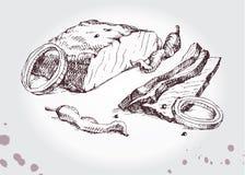 Nötköttgallerbiff Arkivfoto