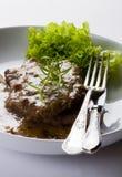 nötköttkotletter Royaltyfri Fotografi