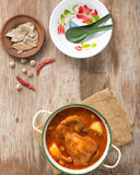 NötköttMassaman curry Royaltyfri Fotografi