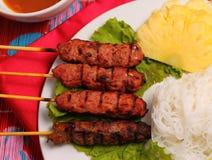 NötköttsalladVietnam stil Arkivbild