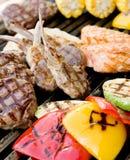 nötköttsteakgrönsak Arkivfoton