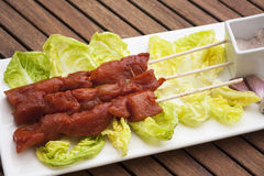 Nötköttsteknål Arkivfoto