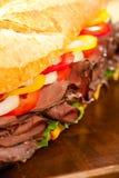 nötköttsteksmörgås Royaltyfria Bilder