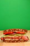 nötköttsteksmörgås Royaltyfri Fotografi