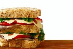 nötköttsteksmörgås royaltyfri foto