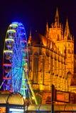 Nötknäpparen göras av trä som målas i ljusa färger Royaltyfri Bild