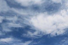 Núblese el color azul del ozono de la estación del fondo de la naturaleza del cielo Fotografía de archivo libre de regalías