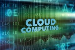 Núblese el concepto de la tecnología de ordenadores Imagen de archivo libre de regalías