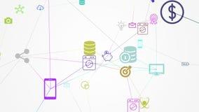 Núblese la tecnología y la computación, Internet de cosas libre illustration