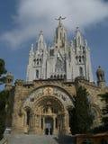 Núcleo de Sagrat, Tibidabo, Barcelona Imagens de Stock