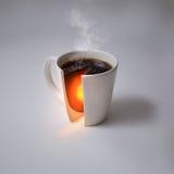Núcleo do café e de terra fotografia de stock royalty free