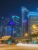 Núcleo do centro de Singapura da estrada do tráfego foto de stock royalty free