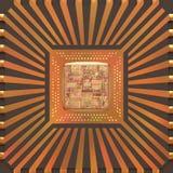 núcleo do microchip 3D Fotografia de Stock