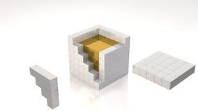 Núcleo do ouro Fotografia de Stock