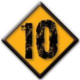 Número 10 Foto de Stock