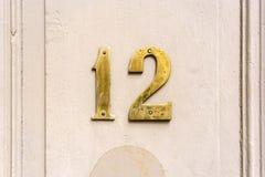 Número 12 imagen de archivo libre de regalías