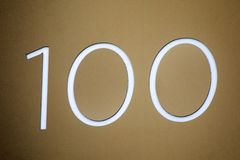 Número 100 Foto de Stock