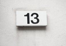 Número 13 Imagen de archivo libre de regalías