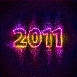 Número 2011 construido de estrellas imágenes de archivo libres de regalías
