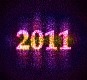 Número 2011 ensamblado de estrellas fotografía de archivo libre de regalías
