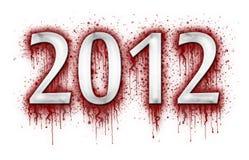 Número 2012 en la salpicadura de la sangre Fotos de archivo