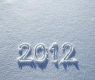 Número 2012 en nieve Foto de archivo libre de regalías