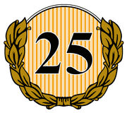 Número 25 com licença do louro Imagens de Stock Royalty Free