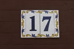 Número 17 fotografia de stock