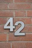 Número 42 Imagen de archivo libre de regalías