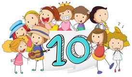 Número 10 Fotografia de Stock Royalty Free