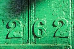 Número 262 Fotografía de archivo libre de regalías