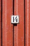 Número 14 Imágenes de archivo libres de regalías