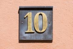 Número 10 Foto de archivo libre de regalías