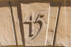 Número 45 Foto de archivo libre de regalías