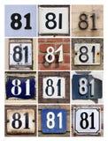Número 81 Imagem de Stock Royalty Free