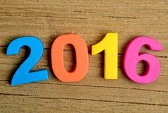 número 2016 Imagen de archivo libre de regalías