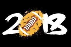 Número abstrato 2018 e futebol Imagem de Stock Royalty Free