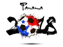 Número abstrato 2018 e mancha da bola de futebol Fotografia de Stock